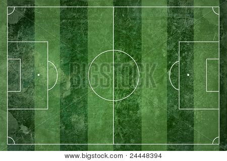 Grunge football field texture background