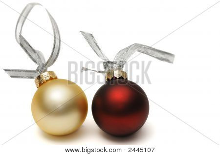 Pair Of Christmas Ornaments