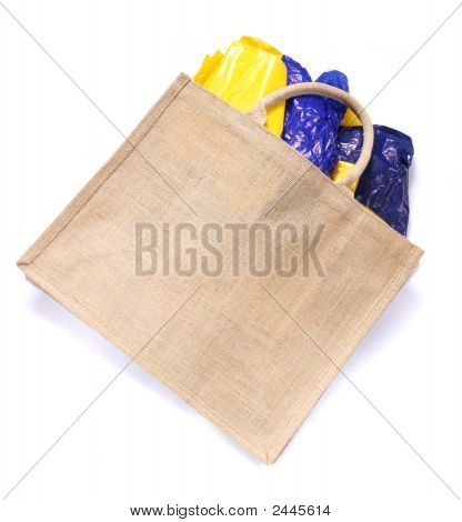Modern Ecological Bag Eating Plastic Bags