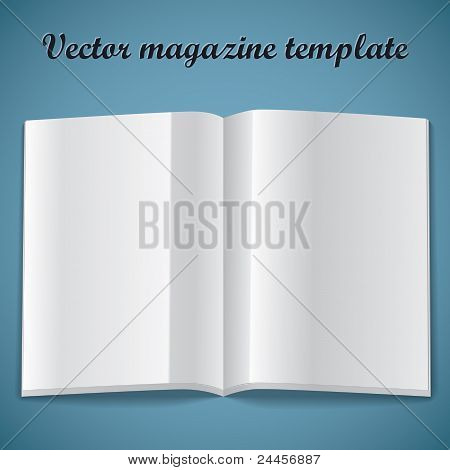 Magazine blank page template. Vector illustration.