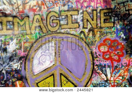Czech Republic, Prague: The Lennon Wall