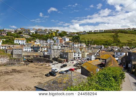 Port Isaac harbour view, Cornwall, England