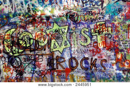 Czech Republic, Prague: The Lennon Wall