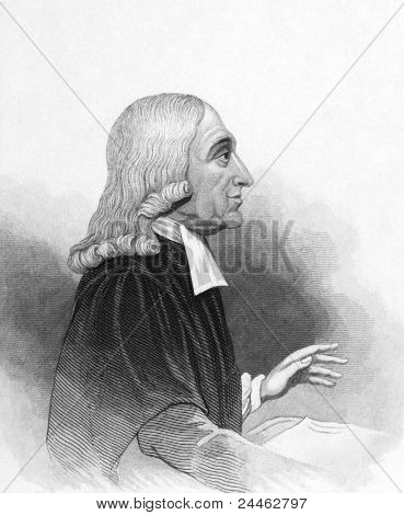 John Wesley (1703-1791). Engraved by anonymous engraver and published in Thomas Dugdale Curiosities Of Great Britain, United Kingdom, 1845.