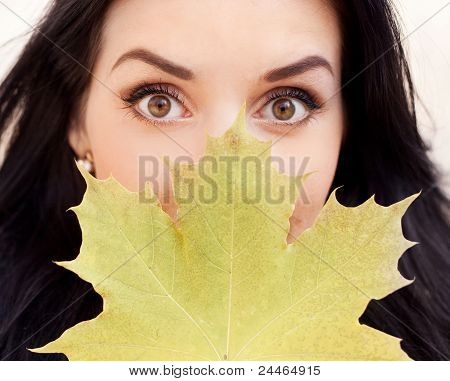 Woman With A Leaf