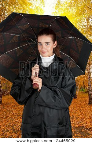 woman in rain coat