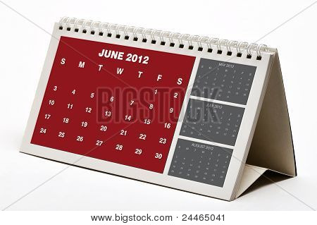Juni 2012 Kalender
