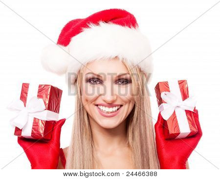 Woman With Presents