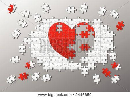 Jigsaw Pieces Broken Heart