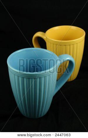 Tazas de café de color