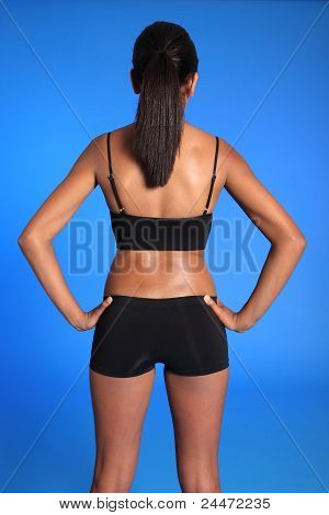 Back And Torso African American Womans Fit Body