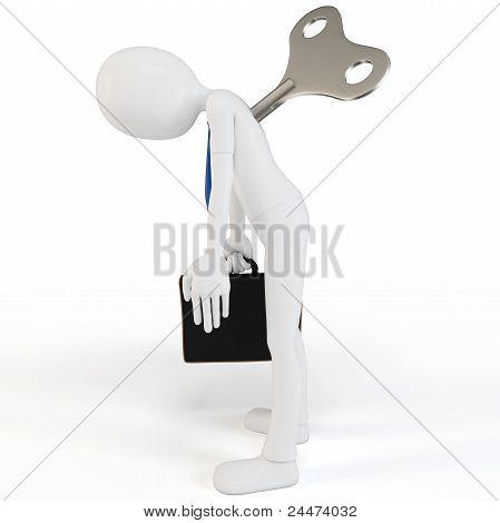 Homem 3D Windup empresário