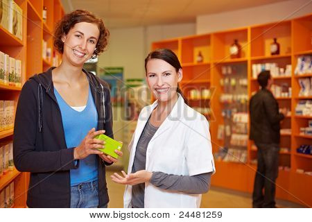 Satisfied Customer With Pharmacist