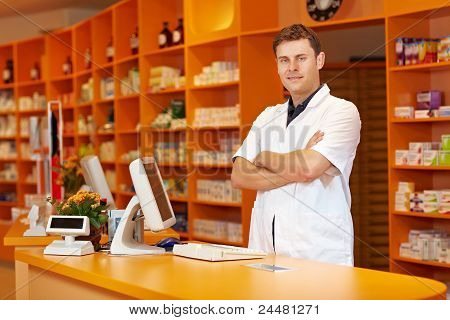 Pharmacist With Arms Crossed