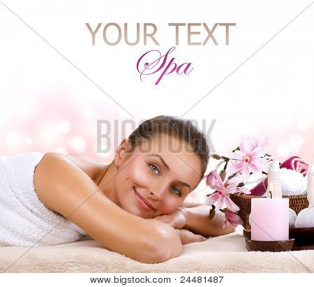 Spa Woman isolated on white