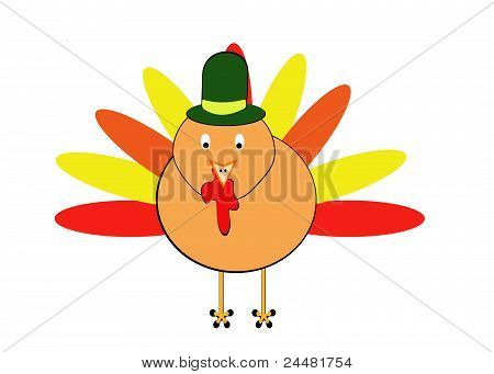 Thanksgiving Turkey with Hat