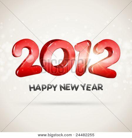 2012 frohes neues 3d Nachricht vector Hintergrund. EPS 10.