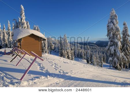Mt. Seymour Ski Resort With Fresh Snow, North Vancouver