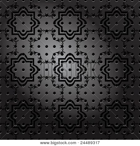 Nahtlose ornamentalen Metallplatte Vektor