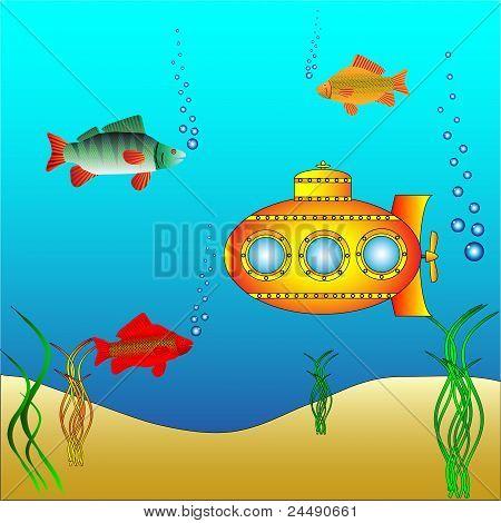 Yellow submarine debaixo de água