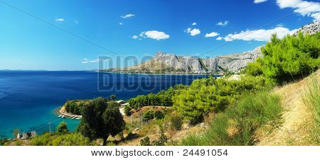 Panoramic Photos Coast Of Omis In Croatia