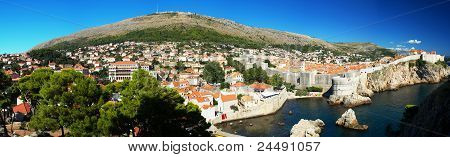 Panorama Of The Historic Center Of Dubrovnik In Croatia