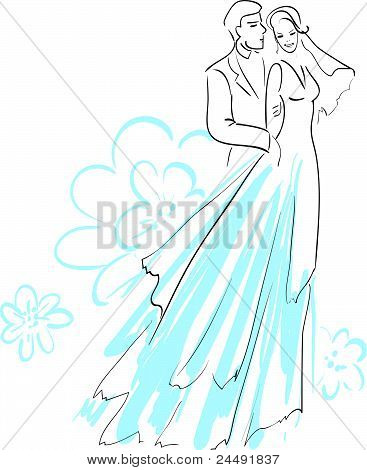 Vector Illustration of a Bride