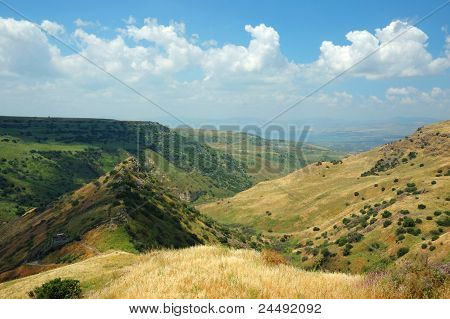 Israeli National Park Gamla Fortress At The Golan Hights - Symbol Of Heroism