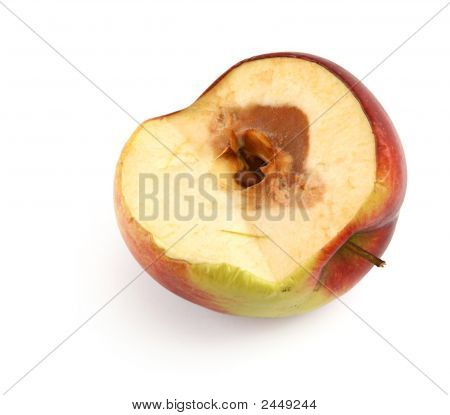 Half Of A Rotten Apple