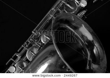 saxophone up close
