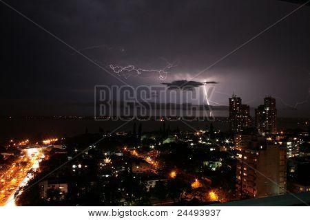 Thunderstorm in Maputo