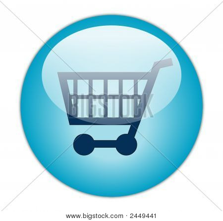 Glass Shopping Cart Blue