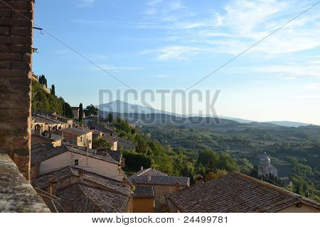 Tuscany architecture and landscape