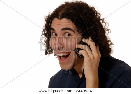 Young Man On Mobile Phone