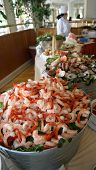 Shrimp Bucket At A Buffet
