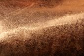 Scratched texture copper plating background close-up poster