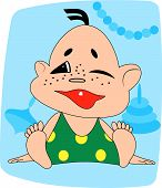image of fidget  - The child smiles to the first tooth vector illustration - JPG