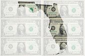 Outline Map Of Florida With Transparent American Dollar Banknotes In Background