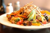 picture of vegetarian meal  - Southwestern salad closeup; shallow depth of field