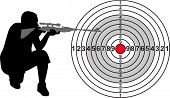 picture of shooting-range  - Target for shooting range with silhouette - JPG