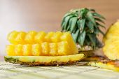 Pineapple With Slices poster