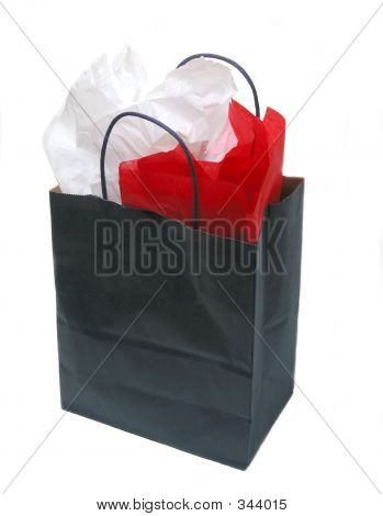 Paper Shopping Bag With Tissue