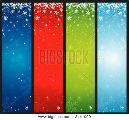 Banners de Navidad de color