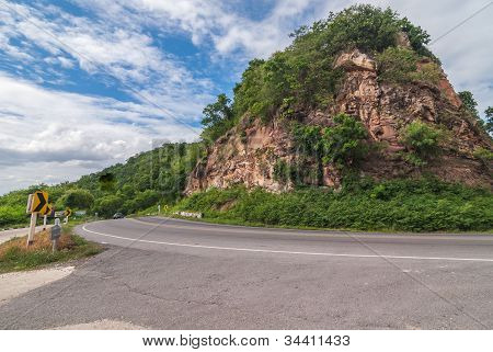 Mountain And Road.