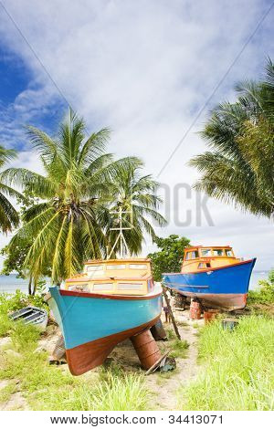 fishing boats, Six Men''s Bay, Barbados