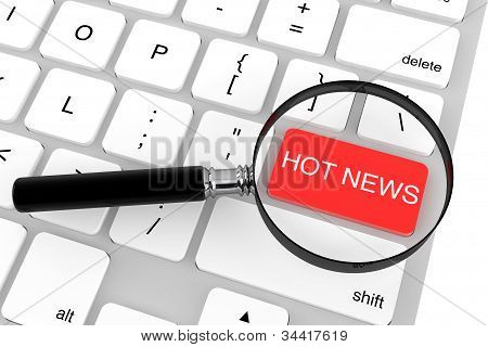 Magnifier With Hot News Key