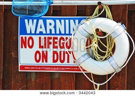 No Lifegaurd Sign