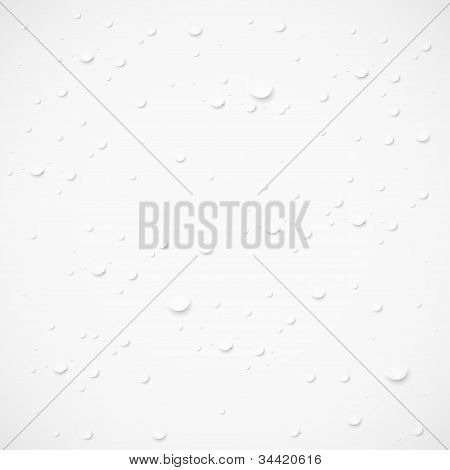 Vector Drops On Gray Background.