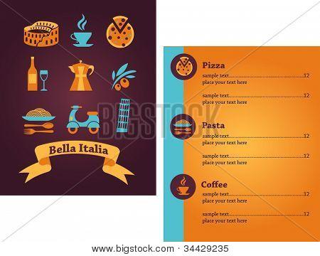 Italian Restaurant menu design