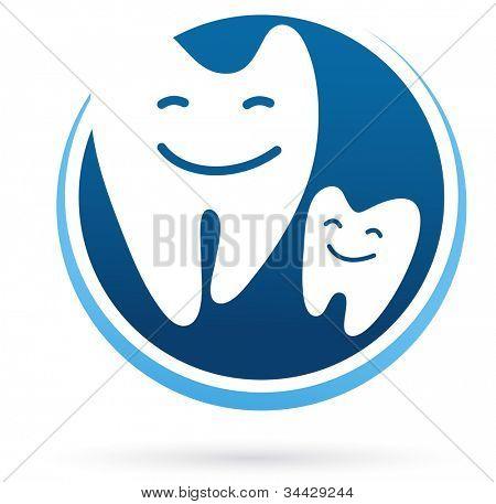 dental clinic vector icon - smile teeth